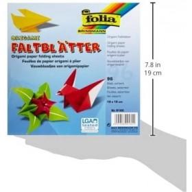 Folia Origami Kağıdı 19x19 cm. 12 Renk 96 Yaprak