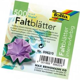 Folia Yuvarlak Origami Kağıdı 10 Renk 500 Adet 12 cm. Çap