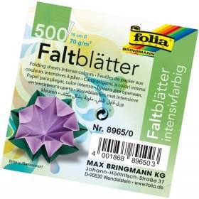 Folia Yuvarlak Origami Kağıdı 10 Renk 500 Adet 15 cm. Çap