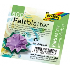 Folia Yuvarlak Origami Kağıdı 10 Renk 500 Adet 16 cm. Çap