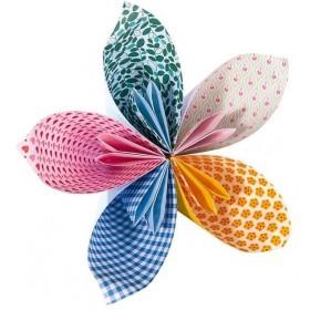Folia Origami Kağıdı 15x15 cm. 5 Desen 50 Yaprak Sweet