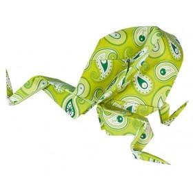 Folia Origami Kağıdı 15x15 cm. 5 Desen 50 Yaprak Basic Yeşil