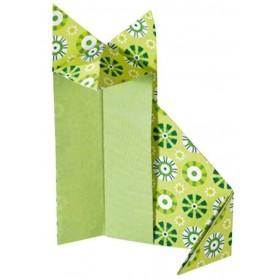 Folia Origami Kağıdı 20x20 cm. 5 Desen 50 Yaprak Basic Yeşil