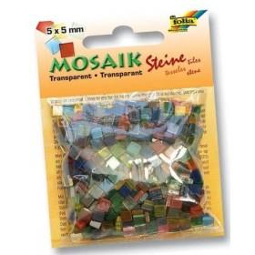 Folia Transparan Mozaik 5x5 mm. 700 Adet 20 RENK KARIŞIK