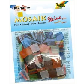 Folia Buzlu Mozaik 10x10 mm. 190 Adet KARIŞIK RENK