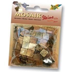 Folia Mermer Desenli Mozaik 10x10 mm. 190 Adet KAHVERENGİ