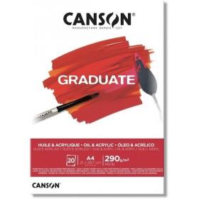 Canson Graduate Akrilik - Yağlıboya Blok 290 g 20 yp. A4