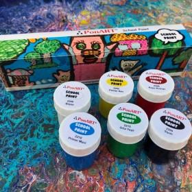 Ponart School Paint Çok Amaçlı Okul Boyası Seti 20ml X 6 Renk