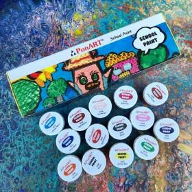 Ponart School Paint Çok Amaçlı Okul Boyası Seti 20ml X 14 Renk