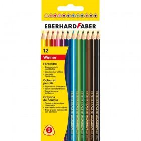Eberhard Faber Winner Üçgen Kuruboya 3mm 12 Renk