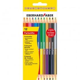 Eberhard Faber Çift Taraflı Kuruboya 3 mm 12 Renk