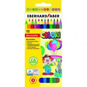 Eberhard Faber Colori Tahta İçermeyen Kuruboya 3mm 12 Renk