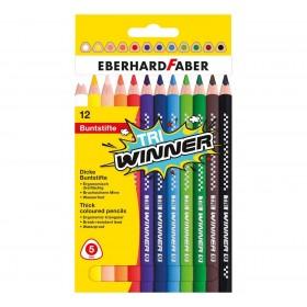 Eberhard Faber TRI Winner Kalın Üçgen Kuruboya 5mm 12 Renk