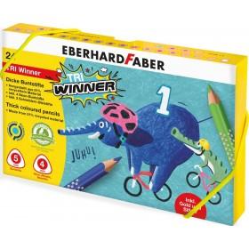Eberhard Faber TRI Winner Plastik Kutulu 24 Renk