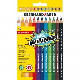 Eberhard Faber BIG Winner Jumbo Altıgen Kuruboya 6mm 12 Renk