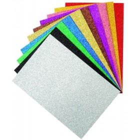 Eva 20x30 cm 10 Renk Simli Yapışkanlı