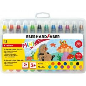 Eberhard Faber Gel Pastel Basic 12 Renk Metalik