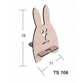 Şaşkın Tavşan Telefon Standı Ahşap Obje