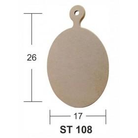 Dekoratif Sunum Tahtası 26x17cm Ahşap Obje