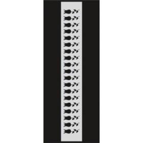 U051 Stencil 10x25 cm