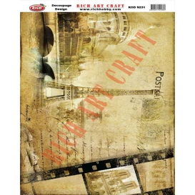 Rich Dekupaj Kağıdı 9231