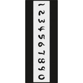 B003 Rakam Stencil 10x25 cm