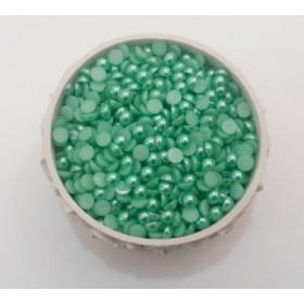 Mint yeşili Yarım İnci 8mm - 100gr.