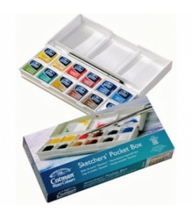Winsor & Newton Cotman Sketchers' Pocket Box 1/2 Tablet Sulu Boya 12 Renk