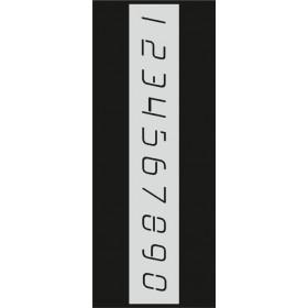 B001 Rakam Stencil 10x25 cm