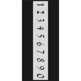 B002 Rakam Stencil 10x25 cm