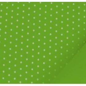 Baskı (Desenli) Keçe Beyaz Puantiyeli Zemin Açık Yeşil