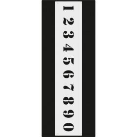 B004 Rakam Stencil 10x25 cm