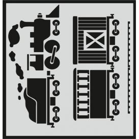L027 Stencil 20x24 cm