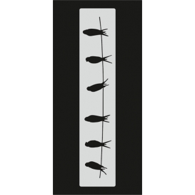 U057 Stencil 10x25 cm