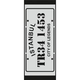 U067 Stencil 10x25 cm