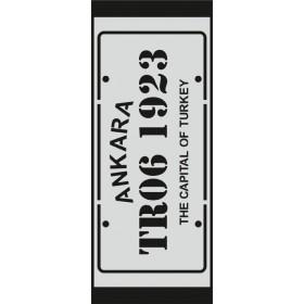 U068 Stencil 10x25 cm