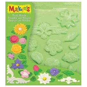 Makin's Clay Push Mold Şekilleme Kalıbı Çiçekler