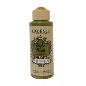 Cadence Style Matt Akrilik Boya 9049 Asker Yeşili/Army green 120ml