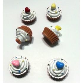 6'lı Cupcake Süs Karışık Paket