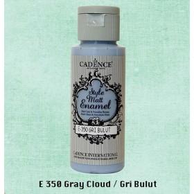 Cadence Style Matt Enamel  E-350 Gri Bulut Cam & Porselen Boyası 59 ml