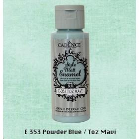 Cadence Style Matt Enamel  E-353 Toz Mavi Cam & Porselen Boyası 59 ml