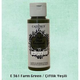 Cadence Style Matt Enamel E-361 Çiftlik Yeşili Cam & Porselen Boyası 59 ml