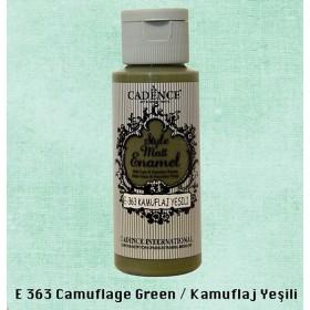 Cadence Style Matt Enamel  E-363 Kamuflaj Yeşili Cam & Porselen Boyası 59 ml