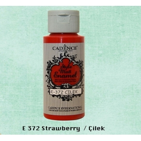 Cadence Style Matt Enamel  E-372 Çilek Cam & Porselen Boyası 59 ml