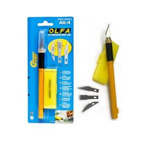 Olfa AK-4 Profesyonel Sanat Bıçağı 3 Farklı Yedek