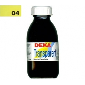 Deka Transparent 125 ml Cam Boyası 02-04 Zitron (Açık Sarı)