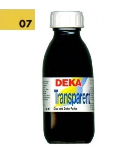 Deka Transparent 125 ml Cam Boyası 02-07 Goldgelb (Koyu Sarı)