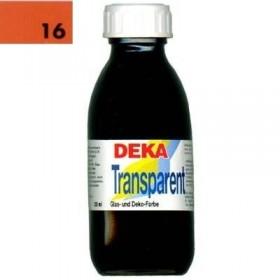 Deka Transparent 125 ml Cam Boyası 02-16 Zinnober (Açık Kırmızı)