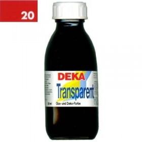 Deka Transparent 125 ml Cam Boyası 02-20 Karmin (Koyu Kırmızı)