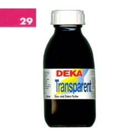 Deka Transparent 125 ml Cam Boyası 02-29 Pink (Pembe)
